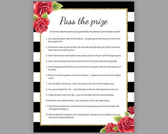 Pass The Prize Bridal Shower Games Parcel Game Floral