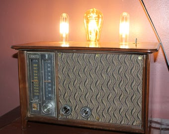 Restored 1960's Zenith Radio -- Lamp conversion -- Radio works!