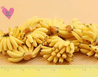 Dolls House Miniature Bunch of Bananas-1pc