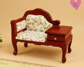 Dolls House Miniature Telephone Chair