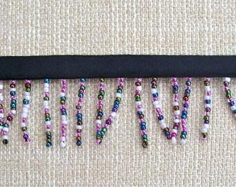 Multi Coloured Acrylic  Beaded Fringe/Trim - 10 yards