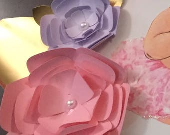 Paper Flower with rhinestones
