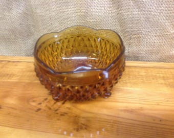 Vintage Amber Candy Dish