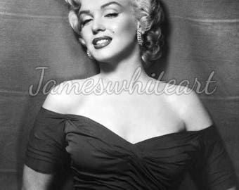Marilyn Monroe - Hollywood Icon - Quality print on A4 (21.0cm x 29.7cm) heavyweight 300g sm Lustre paper