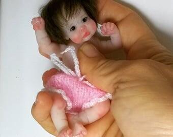 "Silicone baby doll ""Mia"" 4.3 in by Victoria Vihareva-Pechenkina"