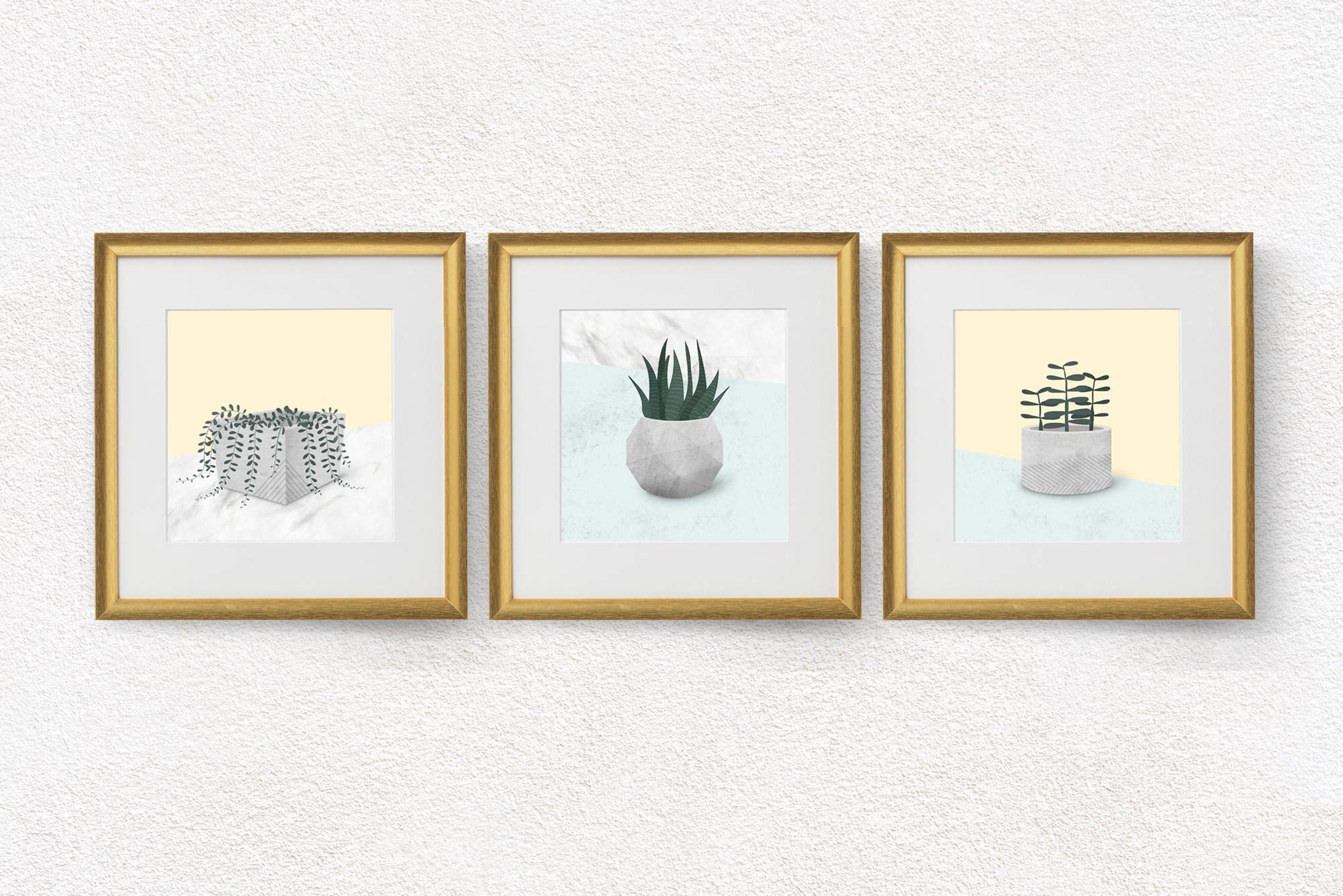 Modern Living Room Wall Decor Set : Living room wall art decor modern set