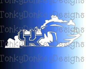 University of Kentucky Wildcats  Digital Cut File (svg, eps, dxf, studio3, jpeg) for cutting machines (Silhouette, Cricut, Brother, etc.)