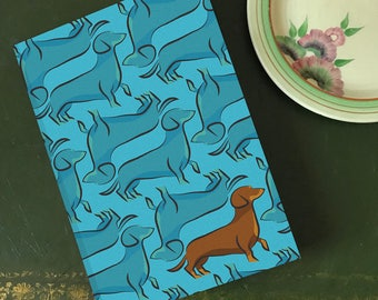 Bertie The Dachshund, A5 Lined Notebook