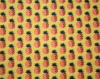 Fat Quarter - Yellow pattern cotton fabric pineapple - new