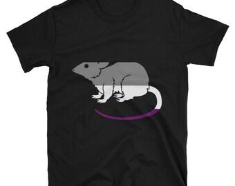 ace pride rat Unisex T-Shirt lgbt asexual lgbtq lgbtqipa queer mogai