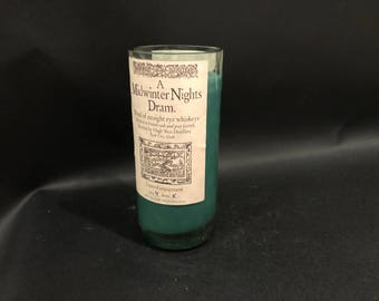 High West Candle A Midwinter Nights Dram Rye WHISKEY BOTTLE Candle Short Cut.Made to Order!!!!
