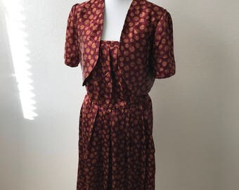 SALE Vintage Dress With Jacket Size 44 Wonderful Outfit