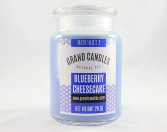 Blueberry Cheesecake Soy Candle | Soy Candles | Scented Soy Candle | Candles | Aromatherapy | Scented Candles | Candle | Vegan Candle