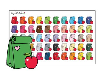 Planner Stickers Lunch Bags