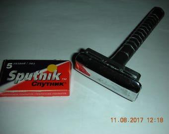 """Vintage safety razor, shaver for man, 5 blades """"Sputnik"""""""