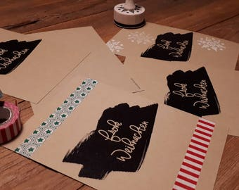 Christmas cards kraft paper (6 cards)