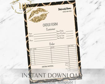 Gold Circle,LipSense,LipSense Order Form,LipSense Business Cards,LipSense Distributor,SeneGence,Order Form,Marketing,Branding,Printable,Lips