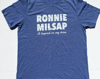 """Ronnie Milsap """"A legend in my time"""" tribute t shirt! Tri blend bella canvas. 70s / country LARGE"""