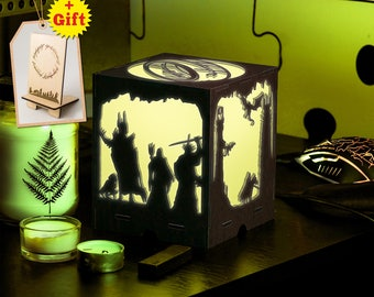 Lord of the Rings led nightlight Color led lantern Lighting Modern bedside lamp Fantasy gift Birthday gift Middle earth The Hobbit Gandalf