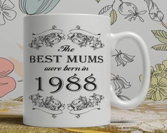 Mum 30th birthday mug mum 30 birthday mug for mum gift ideas for mum present for mum, Any year available on request FF B Mum 1988