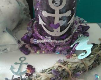Waist beads, gemstone, Chakra Waistlet & Candle set, waist beads, affirmation candle, crystal waistlet, self love candle, feminine jewelry