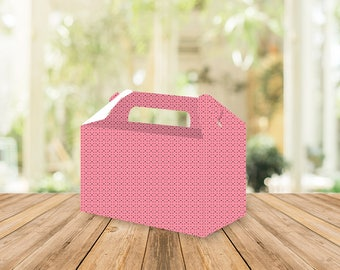 Printable Pink Dots Gable box, Wedding favors, Bridal shower, personalized favors, wedding favors, party favors, birthday, baptism