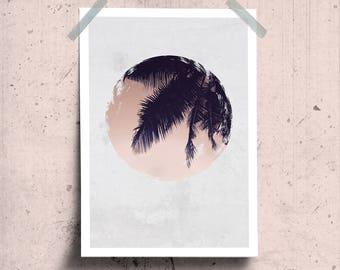 Blush Tropical Wall Art, Palm Leaf Print, Tropical Pink Poster, Palm Leaves Print, Palm Tree Print, Tropical Pink Photo, Wild Nature Print