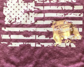 Destroyed American Flag Jeep Tee