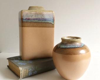 Mid Century California Drip Glaze Stoneware Pottery Vase by Rodolfo Padilla