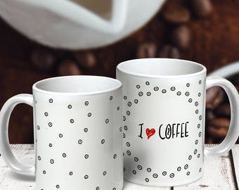 "Mug ""I love Coffee"" (panorama) 