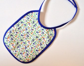 Baby bib in liberty and honeycomb design with ties - PICPIC - ideas for moments chic owls