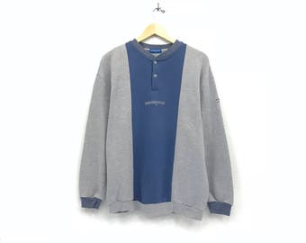 Grand slam munsing wear crewneck sweatshirts jumper embroidery small logo jumper streetwear / penguin logo pullover / large size