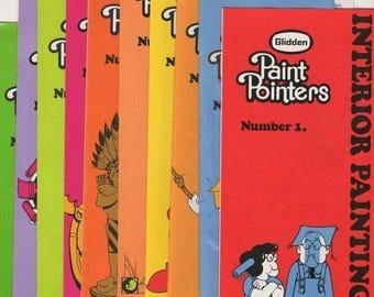 Summer Sale GLIDDEN Paint Pointers Number 1- 10 Brochures 1972
