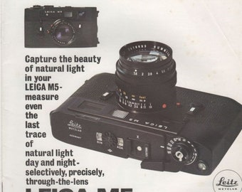 The Leica M5 Lens 20 page Capture the Beauty Brochure