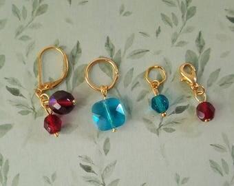 Set of 4 Golden knitting markers