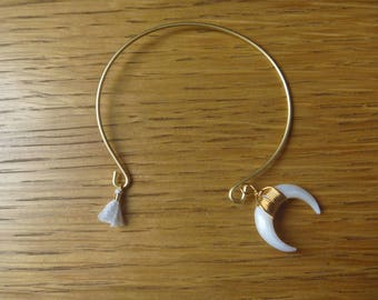 Gold Bracelet, Moon and tassel