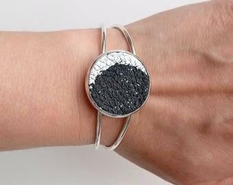 Celestial jewelry bracelet Celestial jewelry Celestial bracelet Moon phase Moon bracelet Boho gift cuff Boho jewelry cuff
