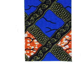 African Print fabric 2018 A6 daily Diary Planner Calendar Agenda Vibrant Unique Original Ankara Hardback orange blue black Dovetailed London