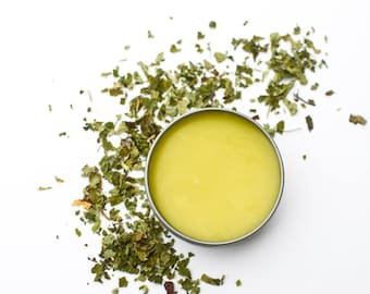 Lemon Balm Salve,  Organic Lemon Balm Salve, Herbal Salves, Salve, Organic Salve