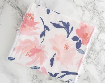 Watercolour Floral Burp cloth, baby girl, baby girl gift, baby burp cloth, burp rags, baby girl burp cloth, baby shower gift, newborn gift