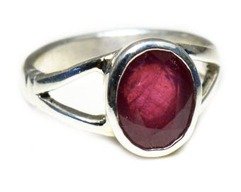 Ruby Cut Ring,Pink Ruby,Red Ring,925 Sterling Silver,Vintage Promise Ring,Genuine Dark Ruby Ring Unique Ring,Gems ring