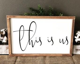 This Is Us Sign, Wood Sign, Farmhouse, Farmhouse Decor, Handmade