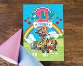 Paw Patrol Birthday Party Party Kit -  Skye, Pink and Purple and rainbow