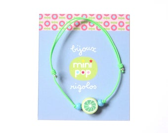 Lime green neon wire adjustable bracelet