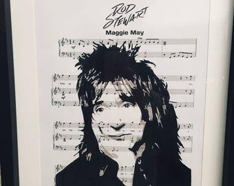 Rod Stewart sheet music art