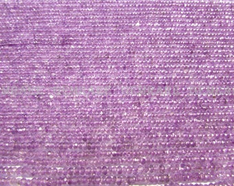 Pink Amethyst Faceted Rondelle beads, Quality AAA, 2.50 to 2.80 mm, 36 cm, 195 pieces, AMETHY*-117/1, Semiprecious Gemstone beads