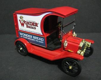 Vintage Die Cast Wonder Bread Delivery Truck, Ford Model T Delivery Truck