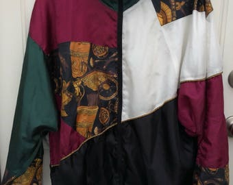 Patterned Abstract Windbreaker