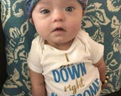 I Am Down Right Awesome Onesie, I Am Down Right Awesome, down right awesome, Down Syndrome Awareness, T21 Awareness, Trisomy 21 Awareness