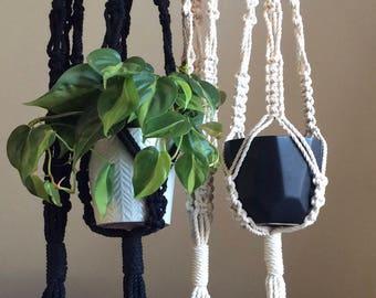 William* Macrame plant hanger, plant holder, handmade home decor, bohemian style